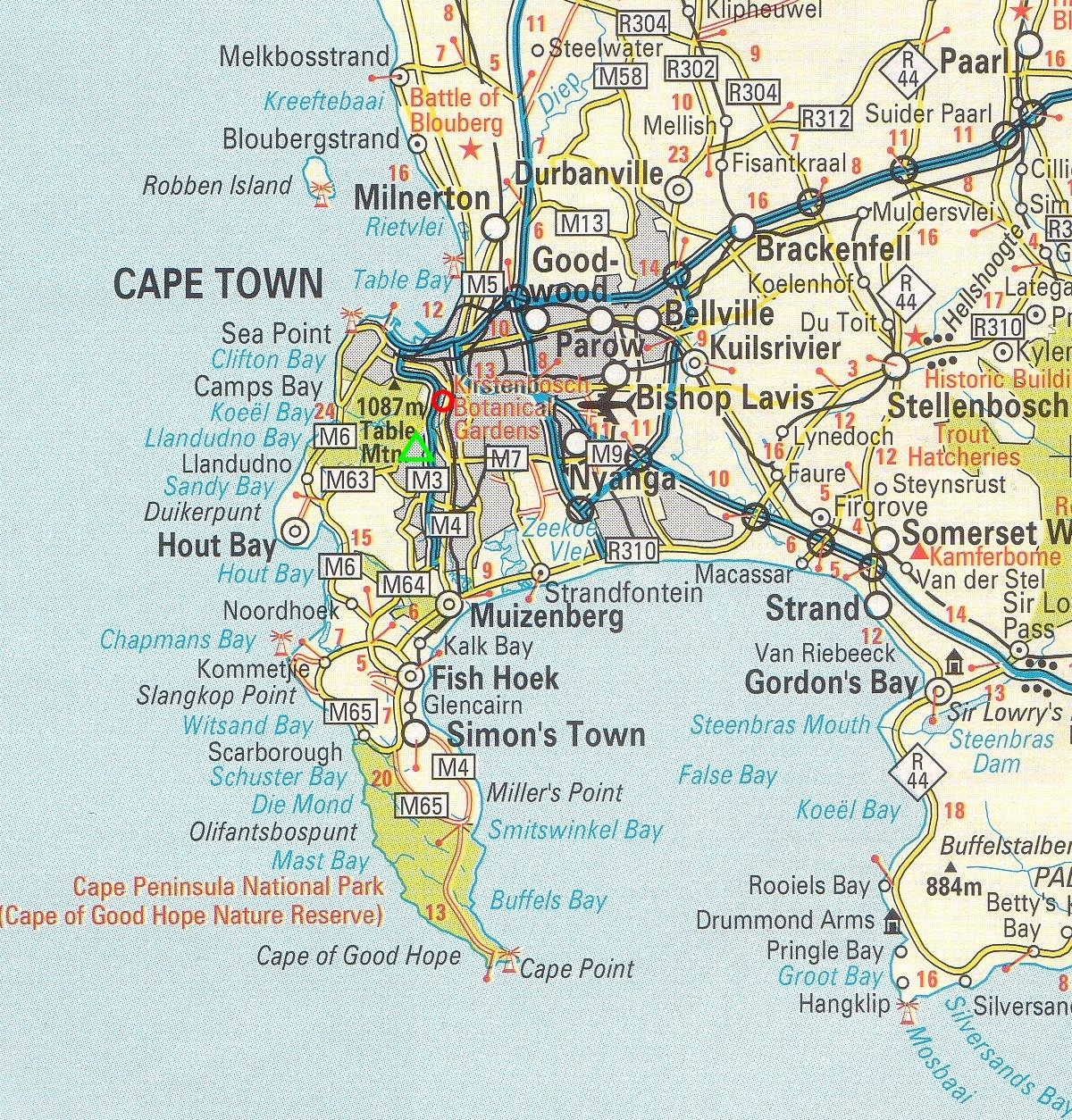 kapstaden karta Sydafrika   startsida kapstaden karta